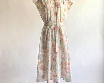 1980s Tropical Pineapple Print Dress by Avon Fashions