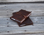 Small Pocket Notebook /  Leather Journal / READY TO SHIP / 4.5 X 3.25 lined notepad / Pocket Journal / Refillable Journal