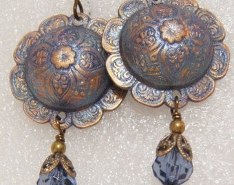 Montana Blue Dangle Earrings with a Bohemian Flare