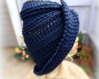 Floppy Hat,  Womens Crochet Hat Womens Hat Trendy,  Womens Winter Hat,  Navy Hat,  Blue Hat,  Lounger Wide Brim Hat