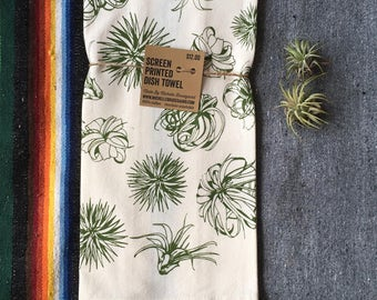 Air Plant Pattern Towel