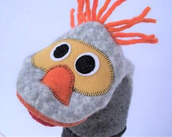 Wool handpuppet named Hoyt