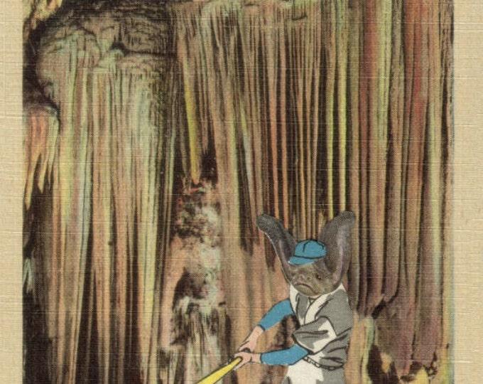 Baseball Bat Art Collage, Sports Artwork
