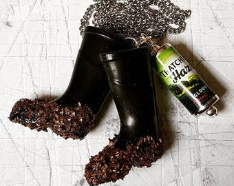Festival Wellies & Cider Necklace