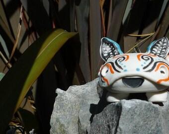 Porcelain, super happy Chiroptera bat desk pet