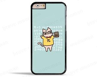 iPhone 7 Case Pi Samsung Galaxy S7 Case Math Nerd Cute Cat Nerdy Gift Pi Day Funny Phone Case