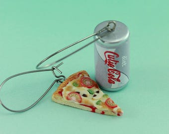 Pizza and Coke Earrings