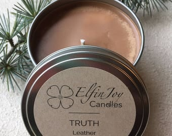 Leather TRUTH Soy Container Candle