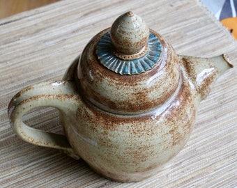 Fancy Teapot - Wheel Thrown Decorative Ceramic Teapot with Fluted Details - Art Pottery - Shapely Tea Pot