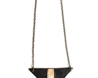 Triangle Enamel Necklace