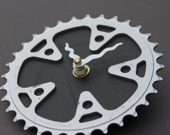 Bicycle Gear Clock - Campagnolo Brown | Bike Clock | Wall Clock | Recycled Bike Parts Clock