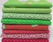 Christmas Fabric Bundle - Red & Green