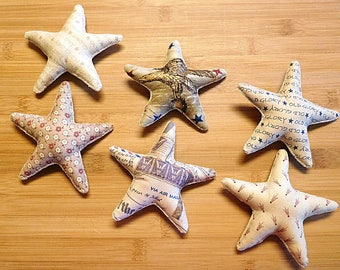 Independence Day Stars Ornaments Tan and Cream Bowl Fillers Holiday Decorations