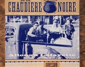 Cajun Band Letterpress Poster BLACK POT FESTIVAL 2016 Lafayette Louisiana cooking music French art print vintage