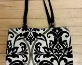 SALE Classic Black And White velvet  Tot Bag