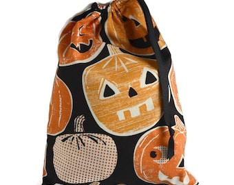 Halloween Bag, Halloween Trick or Treat Bag, Halloween Favor Bag, Halloween Knitting Bag, Halloween Gift Bag