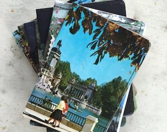 Slim Wallet- Vintage Spain Postcard, Map- choose 1