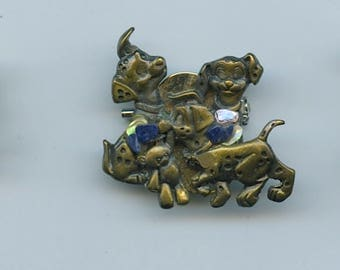 Whimsical Dog Theme Brooches Set Of 3