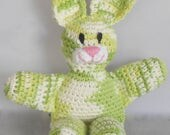 Green Amigurumi Easter Bunny - Crochet Easter Bunny -Bunny Rabbit Plushie -Stuffed Bunny Rabbit Toy -Plush Bunny Rabbit - Lime Green Bunny