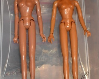 2 Vintage Mego 12 Inch Cher Doll Bodies, 1 With Wonder Woman Head TLC, for Parts or Sewing Models