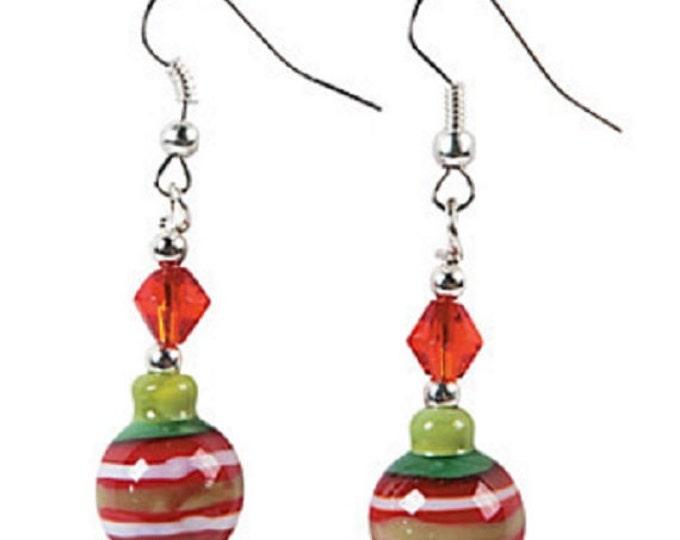 Christmas Ornament Lampwork Earrings