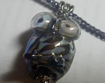 Big-Eyed Owl Pendant and Earrings Set