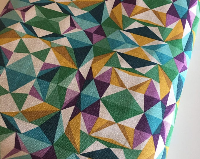 Geometric Fabric, Emerald fabric, Quilting fabric, Modernist fabric by Joel Dewberry, Prismatic in Emerald- Choose the cut