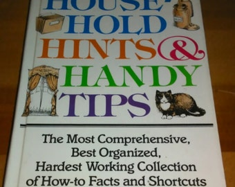 Vintage 1988 Hardback Reader's Digest Household Hints & Handy Tips Book How to Facts and Shortcuts Free Shipping
