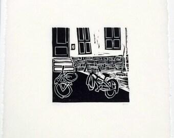 18A Spring- woodcut block print- Ruchika Madan