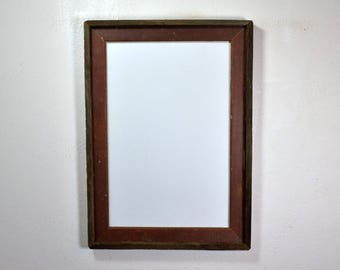 rustic poster frame from reclaimed wood 12x18 with glass free shipping