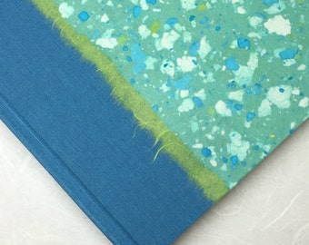 Scrapbook Album Turquoise Terrazzo-Great for Wedding,Scrap Book, Shower, Memories, Art Journal