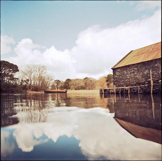 Muckross Lake, Ireland Print, Signed Photography, Art Print, Collectible, Film, Analog, Square, Rural Landscape, Home, Office Decor, Irish