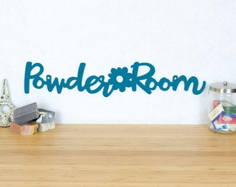 Powder Room Sign, Bathroom Wall Art, Signs For Bathrooms, Powder Room Wall Art, Wood Washroom Sign, Funky Signs For Home
