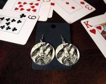 Jabberwocky Alice in Wonderland Earrings
