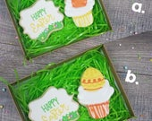 RESERVED FOR JULIA- Easter Cupcake Gift Box B.  2 Cookies