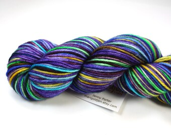 Snozzberry--hand dyed DK weight yarn, Superwash Merino (250yds/115gm)
