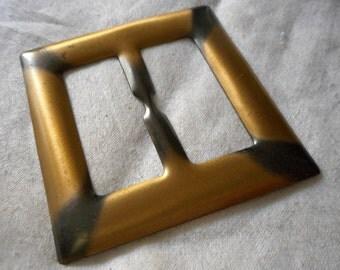 VINTAGE Square Metal Slide Belt Buckle