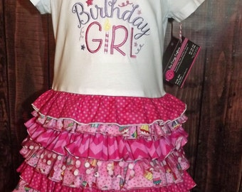 Birthday Girl Ruffle T-Shirt Dress