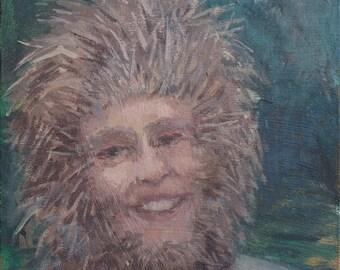 Porcupine Lady- original portrait painting