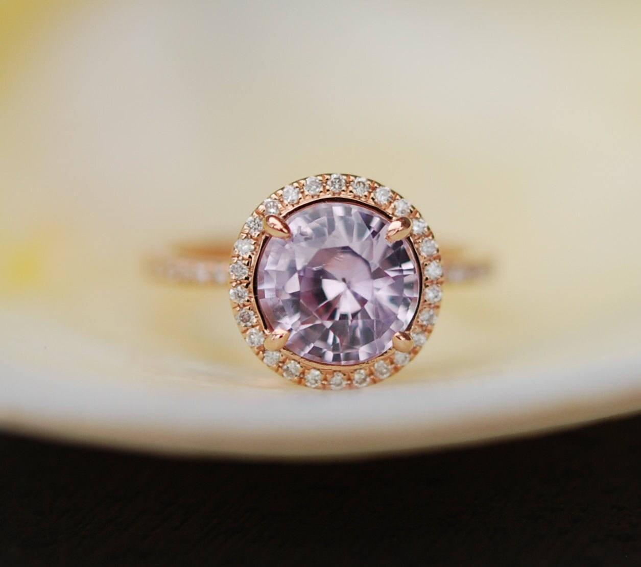 Rose Gold Engagement Ring Lavender Purple Mauve Sapphire. Eragon Wedding Rings. Malabar Rings. Bloodstone Wedding Rings. Puzzle Rings. Anchor Rings. Simplistic Rings. Romantic Wedding Rings. Traditional Rings