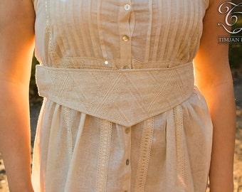 Sale! MYRTLE BELT - Lace Corset Waist Bride Wedding Burlesque Cabaret Steampunk Steam punk Hippie Boho Dress Halloween Gypsy - Off white