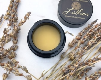 Lúthien Botanical Solid Perfume ~  fragrant fields of lavender with hints of sweet grass and earth