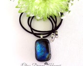 Fused Glass Necklace, Dic...
