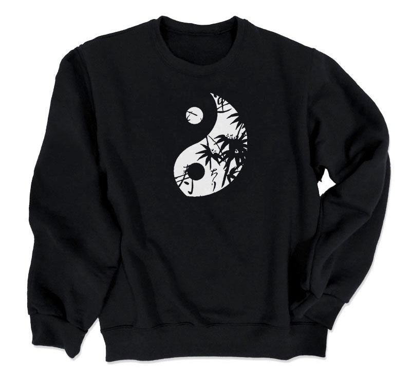 Yin Yang Sweatshirt Yoga Clothes Peace Zen Yin Yang Symbol