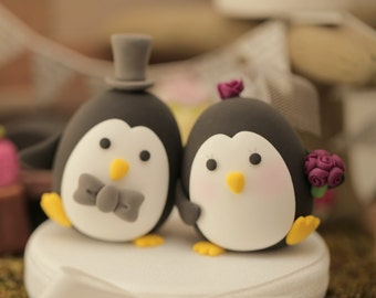Penguins wedding cake topper (K452)