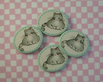 Fat Cat Button set of 4