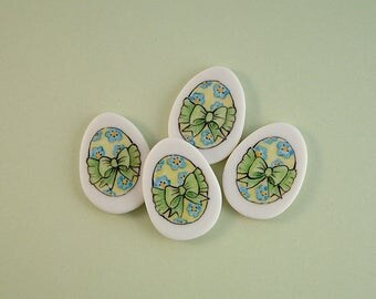 Bow Egg Button set of 4