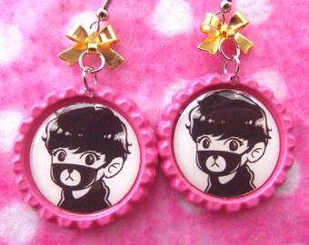 EXO Chanyeol Teddy Bear Kawaii KPOP Earrings