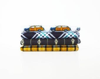 Mens Handkerchief Set - Leisure Suit Surfer - Reusable Tissues - Soft - Paperless - Gift for Men - 9 x 10