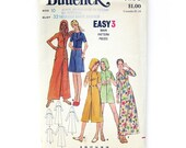 1970s Vintage Sewing Pattern / Butterick 6183 / HOODED Cover-Up Beach Robe / Pool Party Dress / UCUT FF / Size 10